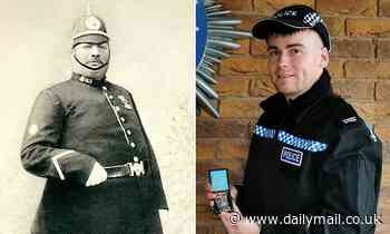 Descendant of Britain's fattest police officer 'PC Tubby' follows in footsteps by joining same force