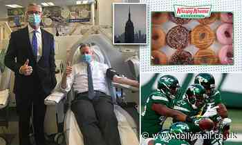 NYC blood banks' supplies are so low donors being offered free Jets tickets and Krispy Kreme donuts