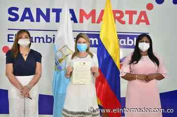 "Alcaldesa de Santa Marta recibió Orden a la Democracia ""Policarpa Salavarrieta"" - El Informador - Santa Marta"