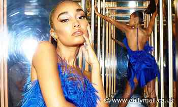 Leigh-Anne Pinnock stuns in a backless blue satin mini dress in stunning snaps