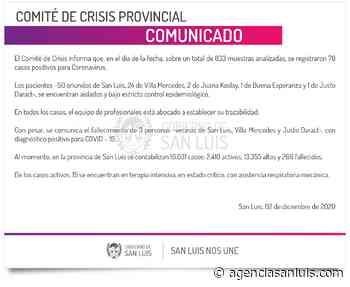 | Este miércoles se registraron 78 casos de Coronavirus - Agencia de Noticias San Luis