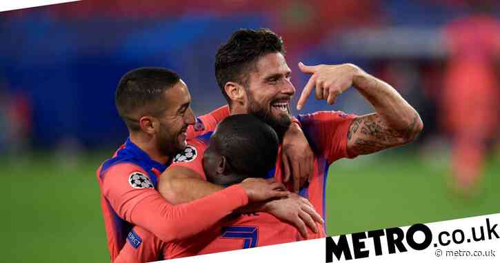 Hat-trick hero Olivier Giroud makes Champions League history as Chelsea thump Sevilla