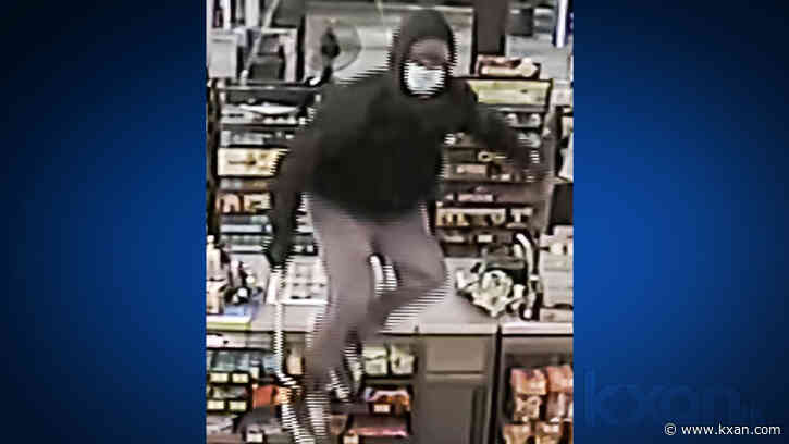 San Marcos police searches for man who robbed gas station while wielding a lug wrench