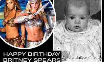 Beyonce wishes Britney Spears a happy 39th birthday with darling shot of the star as a baby