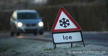 Ice and snow warning as temperatures plummet to -10C this week