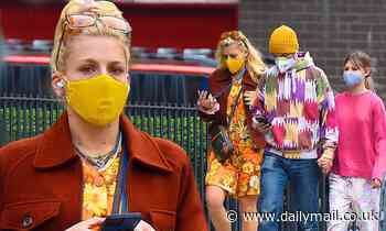 Busy Philipps shows her flower power in bright floral print dress during NYC outing