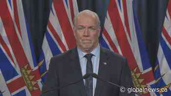 Coronavirus: B.C. Premier John Horgan on travel restrictions during Christmas holidays
