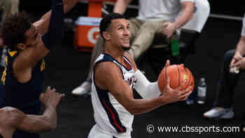 Gonzaga star freshman Jalen Suggs exits game vs. West Virginia with ankle injury