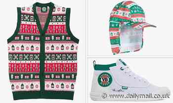 VB has launched an 'ugly' Christmas sweater vest and tacky hat with a neck flaps