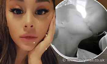 Ariana Grande passionately kisses her real estate beau Dalton Gomez