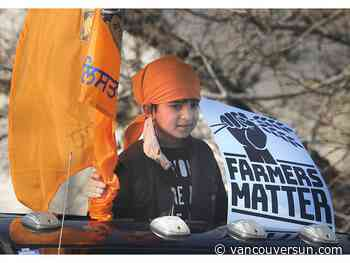 Hundreds join rally from Surrey to Vancouver to support farmer protest in India