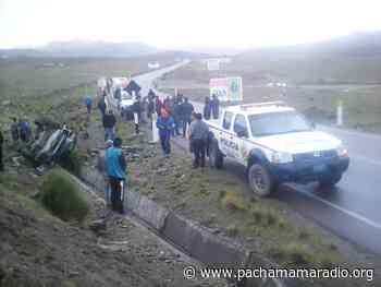 Carabaya: Vehículo policial se despista en la vía Macusani-Ollachea - Pachamama radio 850 AM