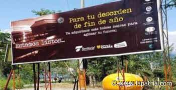 En Viterbo piden retirar valla de campaña de la Territorial de Salud de Caldas - La Patria.com