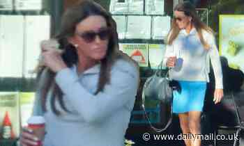 Caitlyn Jenner rips off face mask immediately on exiting coffee shop as COVID-19 cases surge