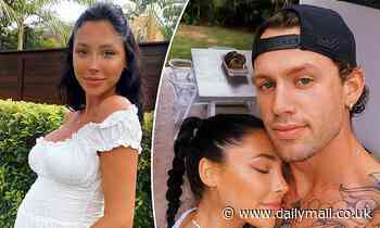 Pregnant London Goheen reveals she has a name for her unborn son with fiancé Reece Hawkins