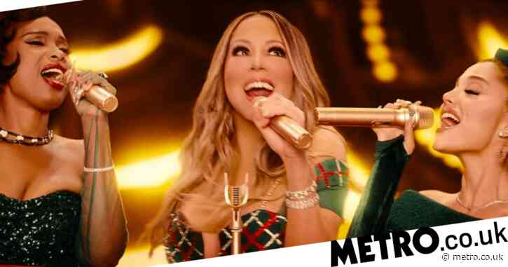 Mariah Carey drops first teaser of Ariana Grande and Jennifer Hudson duet ahead of Christmas special