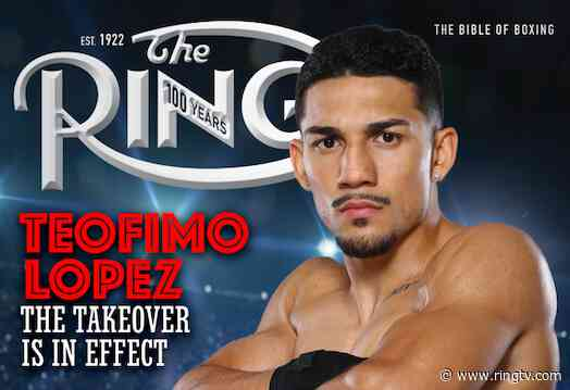 Here's what Teofimo Lopez thinks about being on the cover of Ring Magazine