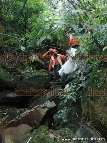 Localizaron cadáver de hombre en barranco de Coacoatzintla - alcalorpolitico