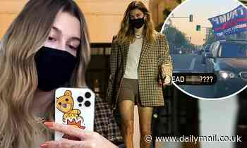 Hailey Bieber spends 4 hours at Beverly Hills hair salon after calling Trump supporter a 'dead a**'