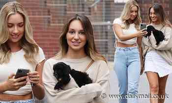 The Bachelor's Bec Cvilikas and Bella Varelis are spotted out in Sydney together with their puppy