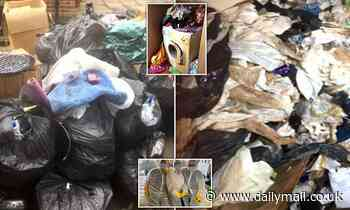 Hoarder who didn't put her bins out for a DECADE resorted to wearing nappies
