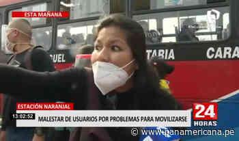 Estación Naranjal: usuarios muestran su malestar por cierre del Metropolitano   Panamericana TV - Panamericana Televisión