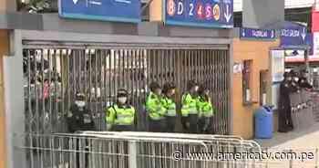 Metropolitano: Cierran puertas de la Estación Naranjal hasta las 4:00 p. m. - América Televisión