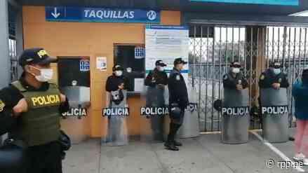 Metropolitano   Así luce la estación Naranjal esta mañana por el paro parcial de concesionarios [VIDEO] - RPP Noticias