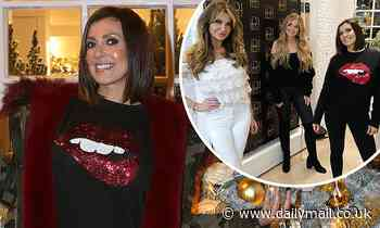 Kym Marsh joins a glam Lizzie Cundy and Amy Hart to turn on Christmas lights at a luxury hair salon