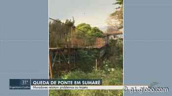 Após ceder, ponte entre Sumaré e Nova Odessa é retirada e moradores ficam sem acesso - G1