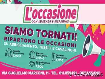 Riapre l'Occasione Orbassano: stock di abbigliamento, tessili e casalinghi - TorinOggi.it