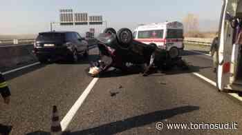 ORBASSANO - Incidente al Sito in tangenziale: auto ribaltata e quattro feriti - TorinoSud