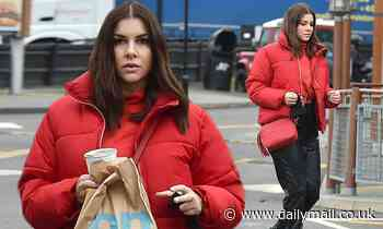 Imogen Thomas opts for a laid back look as she grabs a bite to eat at McDonald's