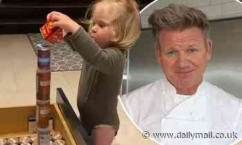 Gordon Ramsay's son Oscar creates a tower of spices in heartwarming video