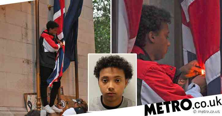 Protester, 19, who tried to set Union Flag alight on Cenotaph avoids jail