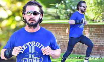 Shia LaBeouf works up a sweat as he steps out for an early morning jog