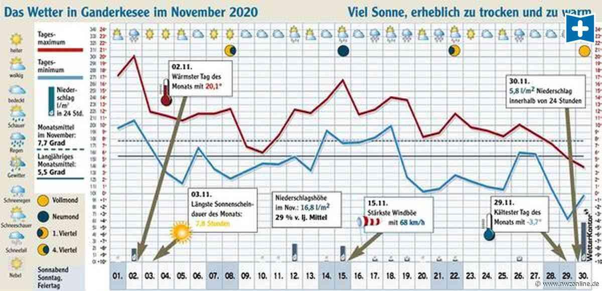 Wetter in Ganderkesee und umzu: Der November, der kein typischer war - Nordwest-Zeitung
