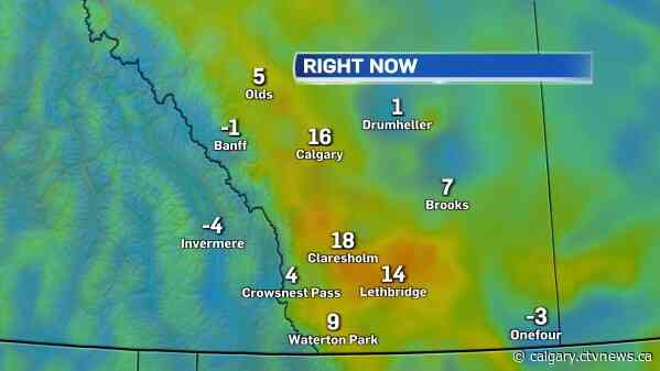 Temperature reaches 16.1 C in Calgary, new daily record high