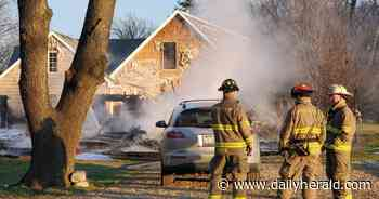 Early morning fire guts Algonquin home, but no injuries reported