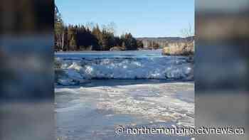 Ice jams form overnight on Vermillion River in Capreol - CTV Toronto
