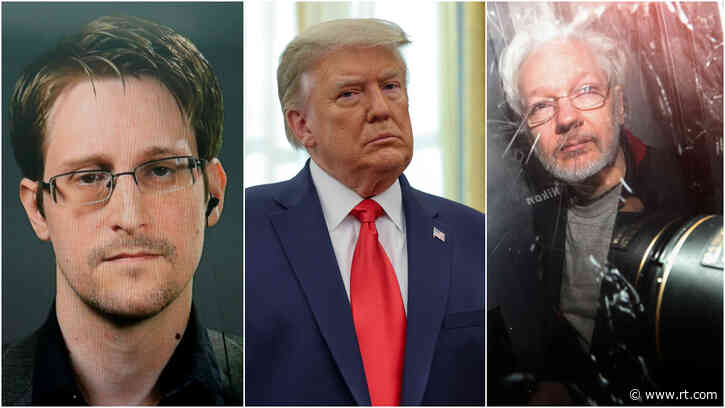 'You alone can SAVE HIS LIFE': NSA whistleblower Edward Snowden urges Trump to grant clemency to Wikileaks' Julian Assange