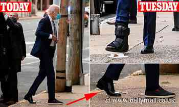 Joe Biden's boot is gone less than a week after he fractured his foot