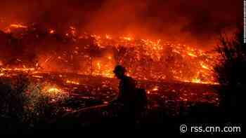 Bond Fire forces evacuations in Southern California, two firefighters injured
