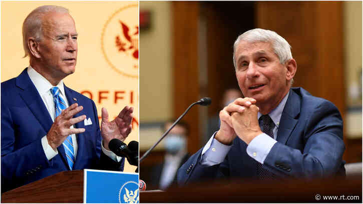 'Not forever': Biden to 'ask' Americans to wear masks for 'just 100 days' as he taps Fauci to join his team as medical adviser