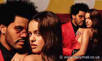 The Weeknd shares a shot with his arms wrapped around Rosalía as he moves on from Grammy Awards snub