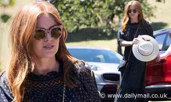 Isla Fisher is spotted at a Sydney park after recently relocating to Australia with her family