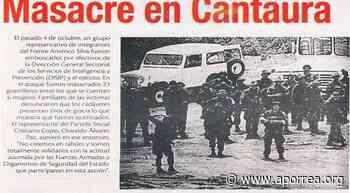 Hace 38 años fue la masacre en Cantaura, entrevista a la defensora DDHH Judith López - Aporrea