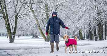 Yellow warning for snow today as Britain braced for coldest night of year