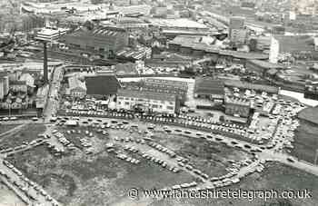 Aerial photo shows cars galore at Blackburn's Tommy Ball's