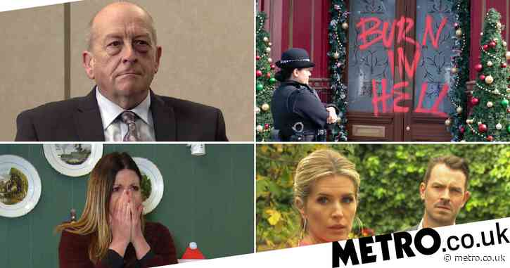 25 soap spoilers: Coronation Street Geoff verdict, EastEnders attack aftermath, Emmerdale death horror, Hollyoaks showdown